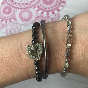 Altar'd State NWT Layering Bracelets Stone Beads